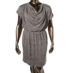 Bar III Womens Embellished Marled Casual Dress