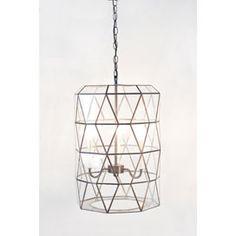 Moderna Clear Glass Lantern