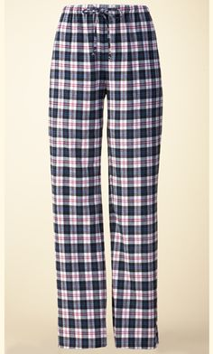 Flannel PJ Bottoms (Black and White Plaid) | Tall Women's Clothes, Ladies Clothing & Apparel by Long Elegant Legs