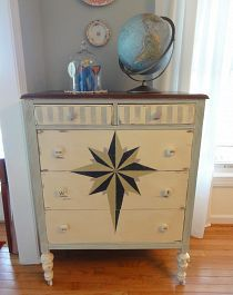 """""""When Little Gypsies Take To The Sea"""" after a little Annie Sloan chalk paint magic."""