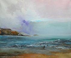 The Winter Sea- oil, canvas:
