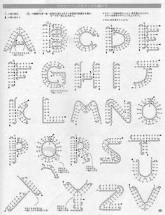 Best 11 Crochet Pattern For Every Letter In The Alp - Crochet Quilling Ideas Crochet - Diy Crafts Appliques Au Crochet, Crochet Motifs, Crochet Diagram, Crochet Chart, Crochet Stitches, Crochet Patterns, Applique Patterns, Crochet Diy, Crochet Amigurumi