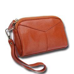 696568b6be5e Luxury Short Zipper Cowhide Genuine Leather Women Coin Bag Wallet Brand  Designer Cartera Purse Female Card