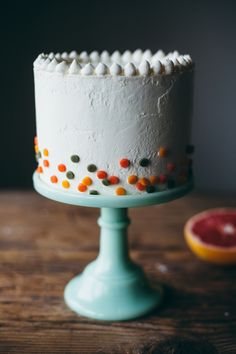 citrus confetti cake - my name is yeh!
