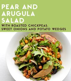 5 Cheap And Delicious Dinners To Cook This Week - Pear and Arugula Salad