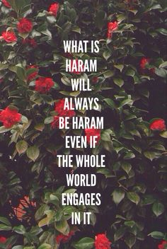 "What is Haram? Haram is an Arabic term meaning ""forbidden"". Haram is anything that is prohibited by the faith. Its antonym is halal. The religious term haram can be applied to: Certain foodstuffs or f (Ingredients Quotes Truths) Islamic Qoutes, Islamic Inspirational Quotes, Muslim Quotes, Religious Quotes, Islamic Phrases, Islamic Messages, Islamic Dua, Islam Muslim, Islam Quran"