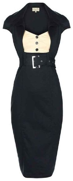 cute lindy bop 'Wynona' chic vintage 50's secretary style black pencil wiggle dress