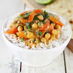 20 Minute Chickpea Curry! by lecremedelacrumb #Curry #Chickpea #Quick #Healthy