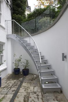 External Curved Staircase