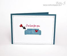 DIY I'm here for you card with simple video tutorial
