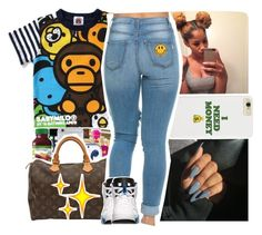 """""""I finessed your b****"""" by baby-wavy ❤ liked on Polyvore featuring Retrò"""