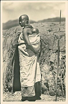 Maasai Woman and Child, East Africa c1930