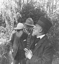 Claude Monet, Ker-Xavier Roussel and Édouard Vuillard at Ginevry, 1920. (monetpainting.net)