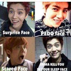 Luhan's derp faces