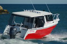 Coraline Boats Outsider 750... it's a beast of a boat, with everything packed in including the kitchen sink!