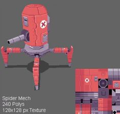 submitted by DoomCube_Art 3d Model Character, Character Concept, Concept Art, Character Design, Character Art, Polygon Modeling, 3d Pixel, Big Robots, Low Poly Games