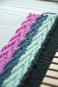#Weaving Technique: The Chevron Weave, which creates an arrow-type shape.