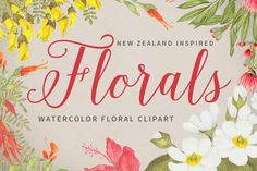 Florals - Inspired by New Zealand  @creativework247