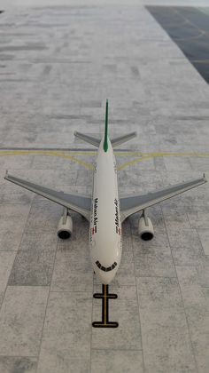 Parking position for Mahan Air Airbus A310-304ET (Herpa)