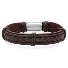 Express your bold, unique sense of style with this striking leather bracelet…