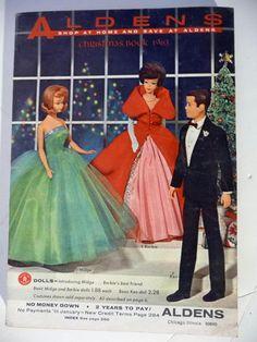 1963 Barbie Midge Ken Doll Christmas Ardens Catalog Paladin Rifleman Western Toy | eBay