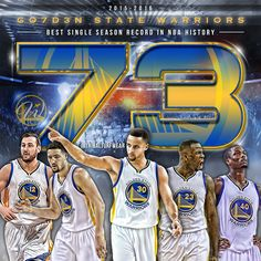 The Golden State Warriors Make History with 73 Victories for Most Wins In A Single Season. An NBA Record Set on April 13, 2016.