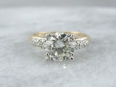 Show Stopping, Over Two Carat Diamond Engagement Ring