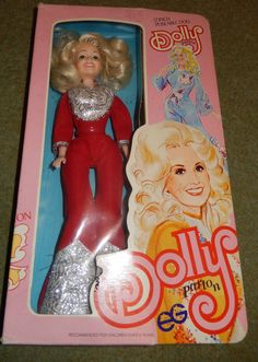 "VINTAGE GOLDBERGER DOLLY PARTON 12"" FULLY POSEABLE FASHION DOLL IN ORIGINAL BOX 24.5+3"