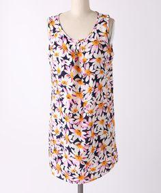 Look what I found on #zulily! My Beloved Pink & Blue Floral Shift Dress by My Beloved #zulilyfinds
