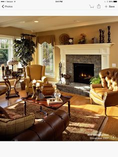 Living Room Inspiration Traditional House, Traditional Family Rooms,  Traditional Fireplace, Living Room Decor