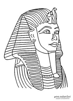 Tutankhamun mask   Print. Color. Fun! Free printables, coloring pages, crafts, puzzles & cards to print