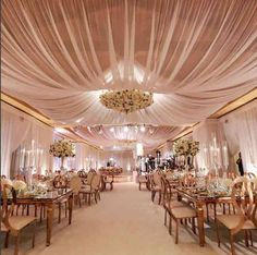 Bloom Box Designs wedding reception indoor wedding draping The Resort at Pelican Hill Shine Lighting West Coast Music gold and pink luxury wedding centerpieces floral design company featured on LoveLuxeLife see more at Wedding Themes, Wedding Designs, Wedding Venues, Wedding Ceremony, Decor Wedding, Wedding Reception Decorations Elegant, Wedding Reception Design, Wedding Destinations, Hotel Wedding