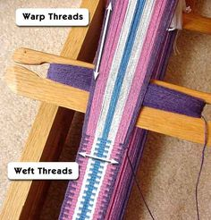 Intro to Inkle Weaving Terms - Warp and Weft