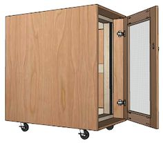 Free woodworking plans for an open frame or enclosed Server Rack for home or small office. I have a few rack mount servers that I.