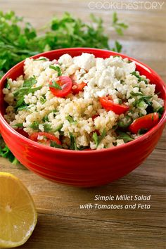 Millet Salad with Tomatoes and Feta