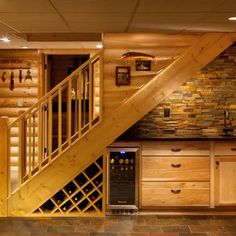 What should you know about the stairs to the basement - Staircase design Under Basement Stairs, Bar Under Stairs, Under Stairs Wine Cellar, Space Under Stairs, Basement Staircase, Basement Bedrooms, Staircase Design, Basement Ceilings, Stair Design
