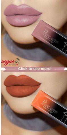 Velvet Passion – Pudaier Waterproof Liquid Lipstick - Make up Storage Mac Makeup, Love Makeup, Skin Makeup, Makeup Tips, Makeup Looks, Makeup Products, Makeup Ideas, Lipstick Colors, Lip Colors