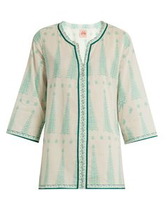 Acanto-print cotton kaftan | Le Sirenuse, Positano | MATCHESFASHION.COM