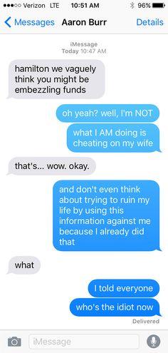 Hamilton told through texts...