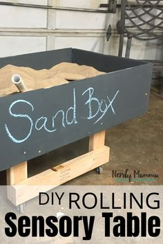 I needed a way to keep my kids occupied while I worked in the workshop. But i really didn't want to put a TV in there. So, I figured out How to Make a Rolling Sensory Table (Sand Box – It's a Rolling Sandbox). Fun Games For Kids, Easy Crafts For Kids, Easy Diy Crafts, Diy For Kids, Tactile Activities, Kids Learning Activities, Family Activities, Sensory Table, Sensory Play