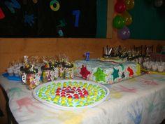 mesa de festa pintando o sete