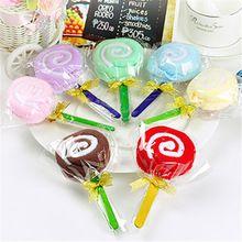 2016 Hot New Cute MINI Lollipop Baby Bridal Cotton Washcloth Hand Towel Party Gift Randomly Colorful(China (Mainland))