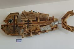 Recycled Pallet Fish sculpture by martiensbekker.co.uk, port isaac, cornwall