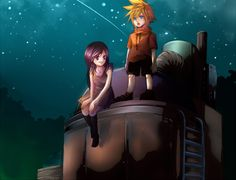 Promise at the Water Tower  - Final Fantasy VII...so cute. ;w;