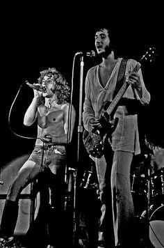 Roger Daltrey and Pete Townshend at Ernst Merck Halle, Hamburg, Germany, August 1972. Photo by Heinrich Klaffs