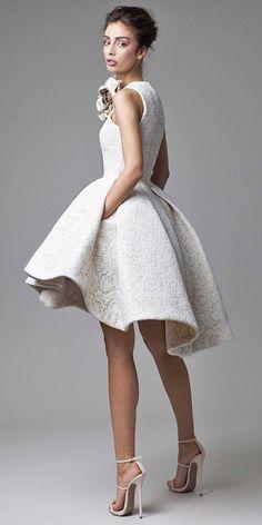 short wedding dresses via krikor jabotian