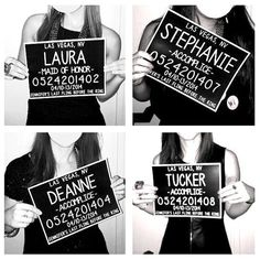 Bachelorette Party Mugshot Signs. Customized by BashoreDesigns.