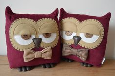 Owl Cushion Owl Pillow Plush Owl Stuffed Owl Decorative by midgins