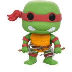 Teenage Mutant Ninja Turtles Pop! Raphael Vinyl Figure | Hot Topic (83 DKK) ❤ liked on Polyvore featuring toys, accessories, other, pop and random