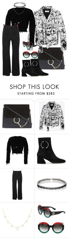 """""""Rise of Piercing"""" by misskadioglu ❤ liked on Polyvore featuring Chloé, Yves Saint Laurent, adidas Originals, Dorateymur, Vetements, Fallon, Anne Sisteron and Gucci"""